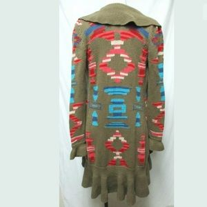 Boston proper Aztec southwest long cardigan coat